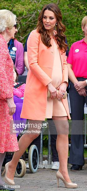 Catherine Duchess of Cambridge visits Naomi House Children's Hospice to celebrate Children's Hospice Week 2013 on April 29 2013 near Winchester...