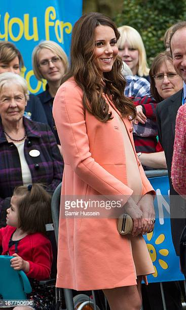 Catherine Duchess of Cambridge visits Naomi House on April 29 2103 in Winchester England