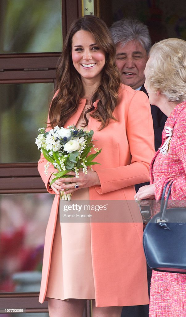 The Duchess Of Cambridge Visits Naomi House : News Photo