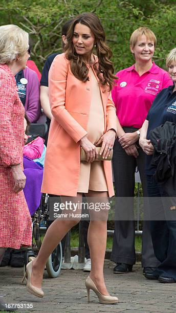 Catherine Duchess of Cambridge visits Naomi House on April 29 2103 near Winchester England