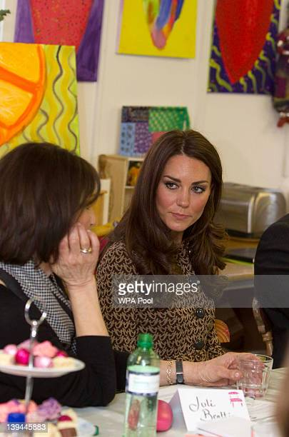 Catherine Duchess of Cambridge visits Oxford Spires Academy on February 21 2012 in Oxford England Catherine Duchess of Cambridge as patron of charity...