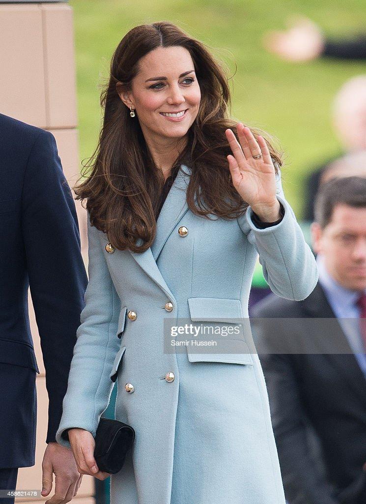 Catherine, Duchess of Cambridge visits Pembroke Refinery on November 8, 2014 in Pembroke, Wales.