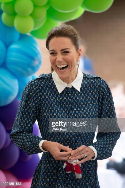 Catherine, Duchess of Cambridge visits Queen Elizabeth Hospital in King's Lynn as part of the NHS birthday celebrations on July 5, 2020 in Norfolk,...