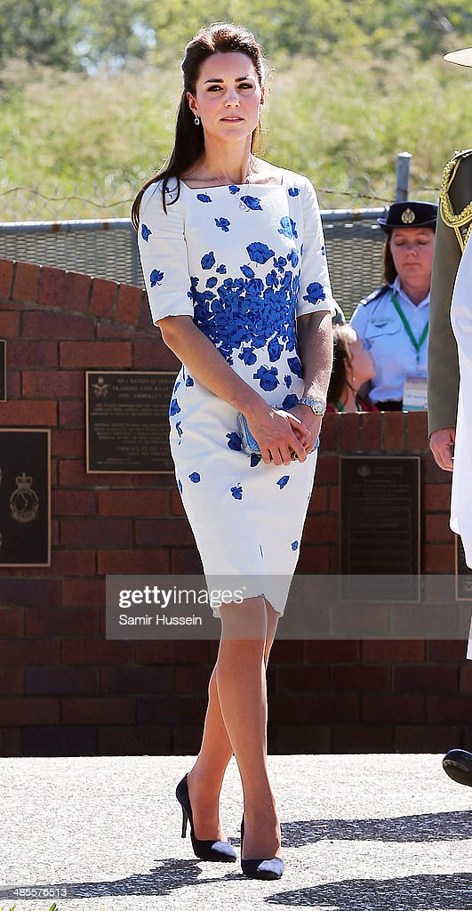 Catherine, Duchess of Cambridge visits RAAF Amberley on April 19, 2014 in Brisbane, Australia. The Duke and Duchess of Cambridge are on a three-week tour of Australia and New Zealand, the first official trip overseas with their son, Prince George of Cambridge.