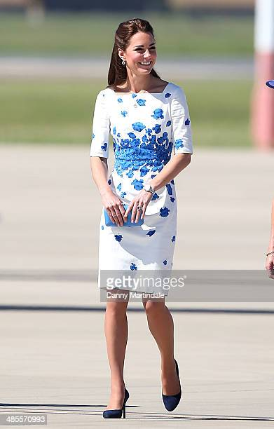 Catherine Duchess of Cambridge visits RAAF Base Amberley on April 19 2014 in Brisbane Australia The Duke and Duchess of Cambridge are on a threeweek...