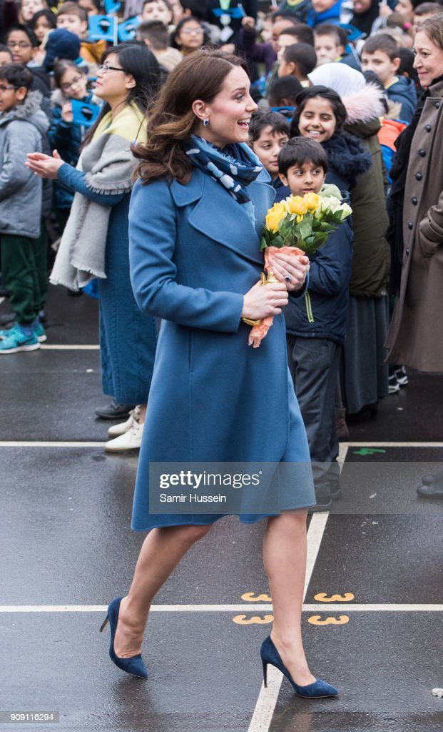 The Duchess Of Cambridge Launch's Mental Health Programme For Schools : News Photo