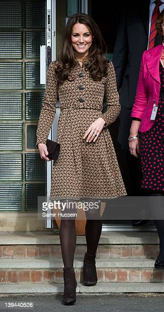 Catherine Duchess of Cambridge visits Rose Hill Primary School on February 21 2012 in Oxford England