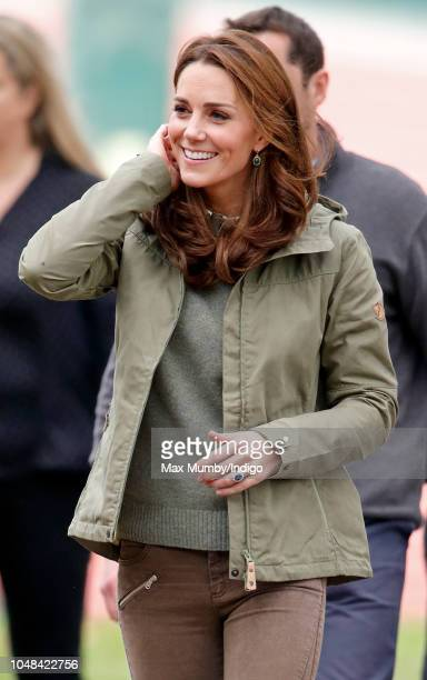 Catherine, Duchess of Cambridge visits Sayers Croft Forest School and Wildlife Garden on October 2, 2018 in London, England. Sayers Croft is an...
