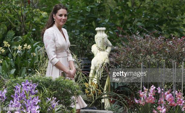 Catherine, Duchess of Cambridge visits Singapore Botanical Gardens on day 1 of a Diamond Jubilee tour on September 11, 2012 in Singapore. Prince...
