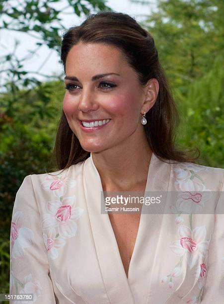 Catherine Duchess of Cambridge visits Singapore Botanical Gardens on day 1 of their Diamond Jubilee tour on September 11 2012 in Singapore