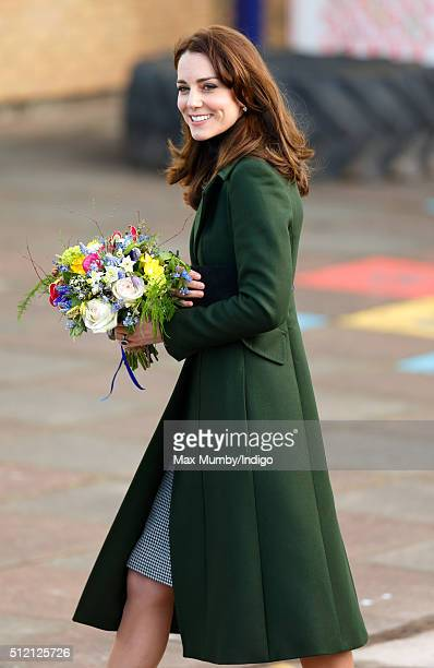 Catherine Duchess of Cambridge visits St Catherine's Primary School on February 24 2016 in Edinburgh Scotland The Duchess Royal Patron of Place2Be...