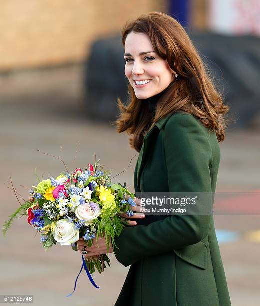 Catherine, Duchess of Cambridge visits St Catherine's Primary School on February 24, 2016 in Edinburgh, Scotland. The Duchess, Royal Patron of...