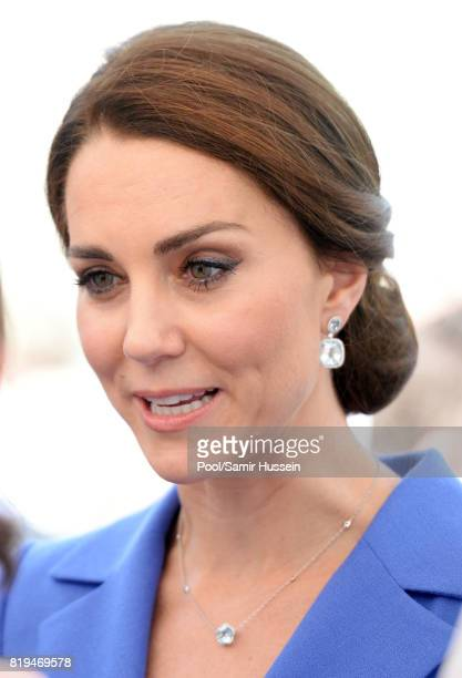 Catherine Duchess of Cambridge visits Strassenkinder a charity which supports young people from disadvantaged backgrounds during an official visit to...