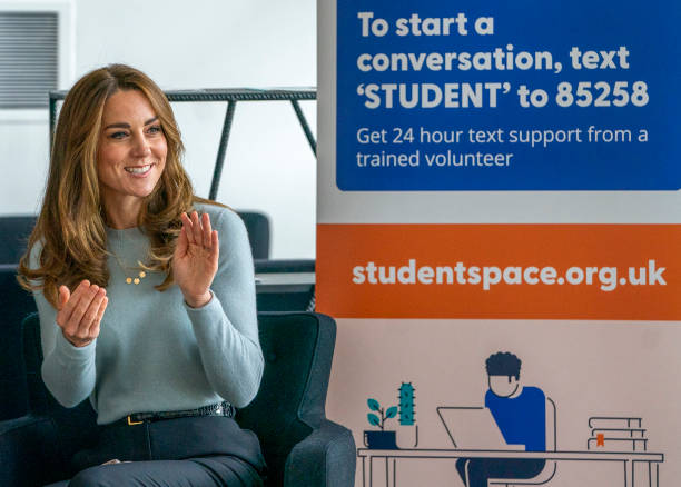 GBR: The Duchess Of Cambridge Visits Students At The University of Derby