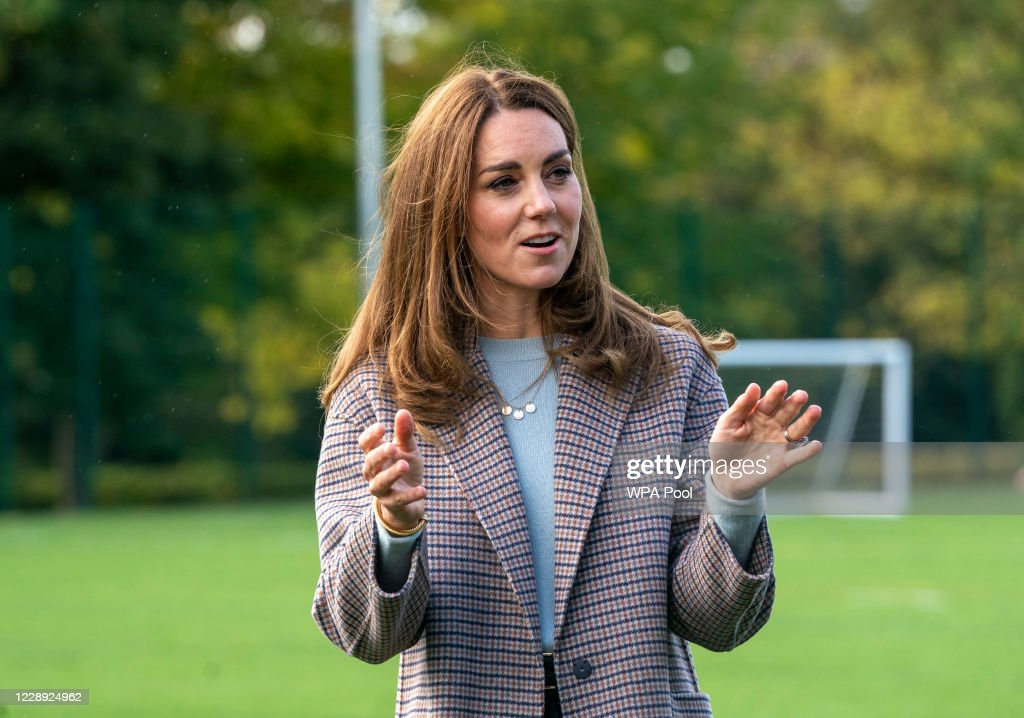 The Duchess Of Cambridge Visits Students At The University of Derby : News Photo