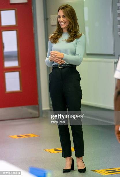 Catherine, Duchess of Cambridge visits students at the University of Derby to hear how the pandemic has impacted university life and what national...