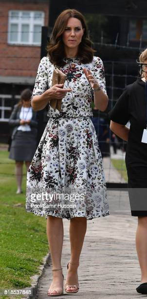 Catherine Duchess of Cambridge visits Stutthof the former Nazi Germany Concentration Camp during day 2 of their Royal Tour of Poland and Germany on...