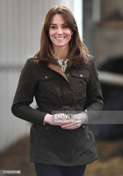 Catherine, Duchess of Cambridge visits Teagasc Research Farm's on March 04, 2020 in Carlow, Ireland. The Duke and Duchess of Cambridge are...