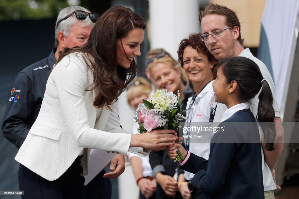 The Duchess Of Cambridge Attends The 1851 Trust Roadshow : News Photo