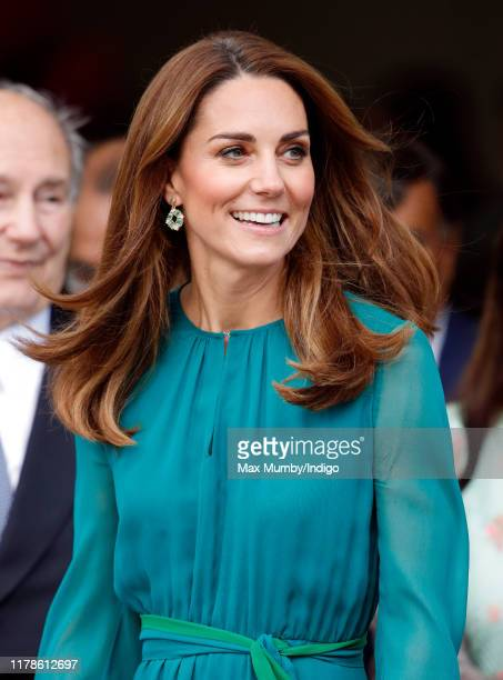 Catherine Duchess of Cambridge visits the Aga Khan Centre on October 2 2019 in London England The visit is ahead of her and Prince William's Royal...