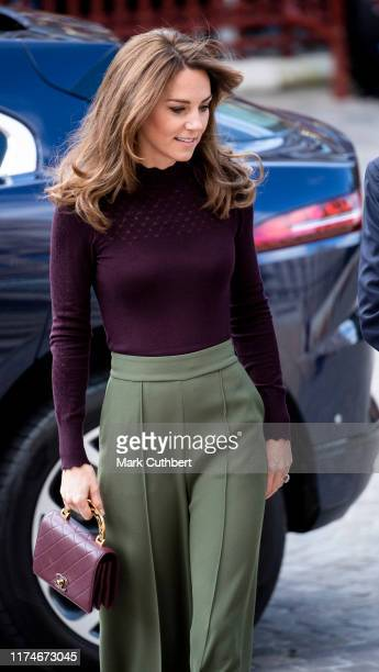 Catherine Duchess of Cambridge visits The Angela Marmont Centre For UK Biodiversity at Natural History Museum on October 9 2019 in London England HRH...