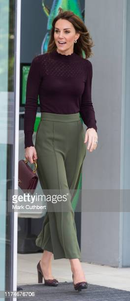 Catherine, Duchess of Cambridge visits The Angela Marmont Centre For UK Biodiversity at Natural History Museum on October 9, 2019 in London, England....