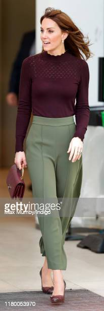 Catherine, Duchess of Cambridge visits The Angela Marmont Centre For UK Biodiversity at the Natural History Museum on October 9, 2019 in London,...