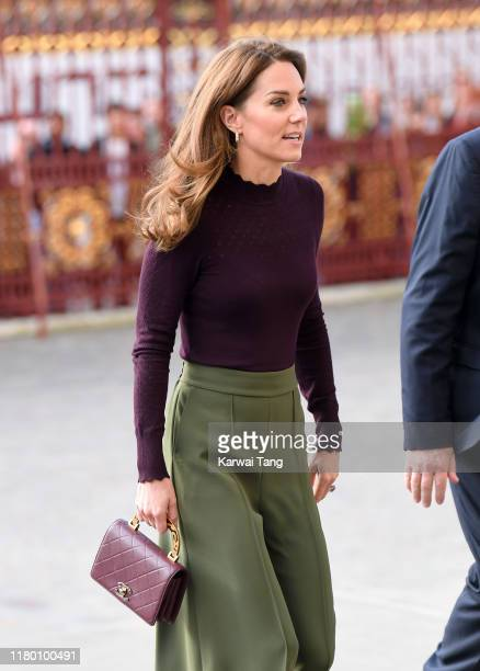 Catherine Duchess of Cambridge visits The Angela Marmont Centre For UK Biodiversity at Natural History Museum on October 09 2019 in London England...