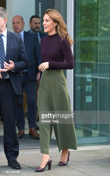 Catherine, Duchess of Cambridge visits The Angela Marmont Centre For UK Biodiversity at Natural History Museum on October 09, 2019 in London,...