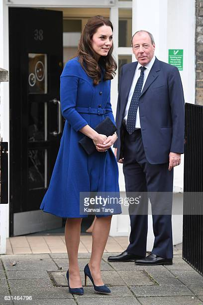 Catherine, Duchess Of Cambridge visits The Anna Freud Centre on January 11, 2017 in London, England.