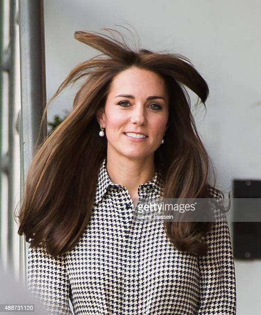 Catherine Duchess of Cambridge visits the Anna Freud Centre on September 17 2015 in London England