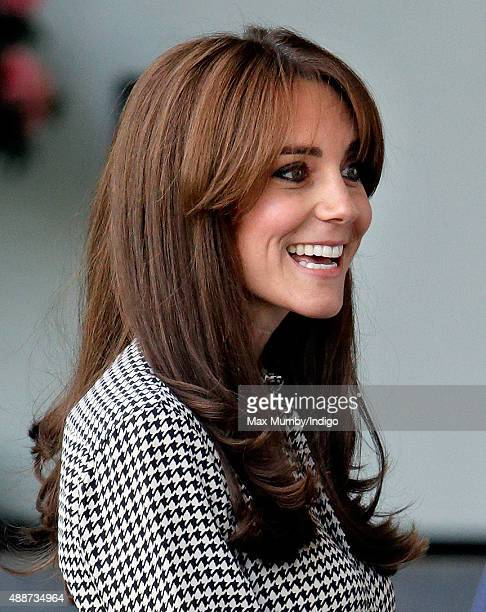 Catherine, Duchess of Cambridge visits the Anna Freud Centre on September 17, 2015 in London, England. The visit was for the Duchess to see how the...