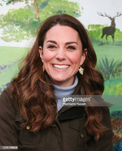 Catherine Duchess of Cambridge visits The Ark Open Farm on February 12 2020 in Newtownards Northern Ireland This visit is part of her Early Years...