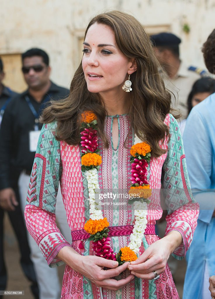 The Duke & Duchess Of Cambridge Visit India & Bhutan - Day 1 : News Photo