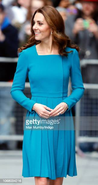 Catherine Duchess of Cambridge visits The BBC to view the work the broadcaster is doing as a key member of The Duke of Cambridge's Taskforce on the...