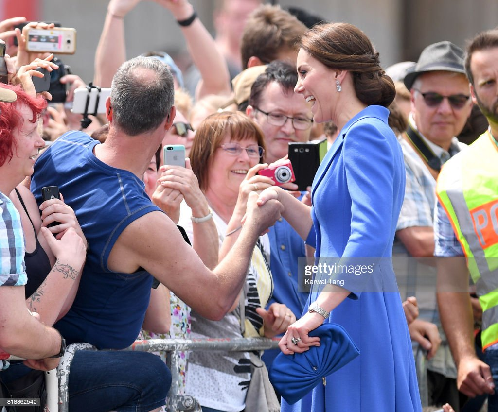 Catherine, Duchess of Cambridge visits The Brandenburg Gate on day 3 of their Royal Tour of Poland and Germany on July 19, 2017 in Berlin, Germany.