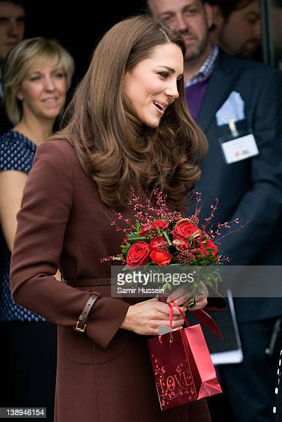 Catherine, Duchess of Cambridge visits The Brink on February 14, 2012 in Liverpool, England.