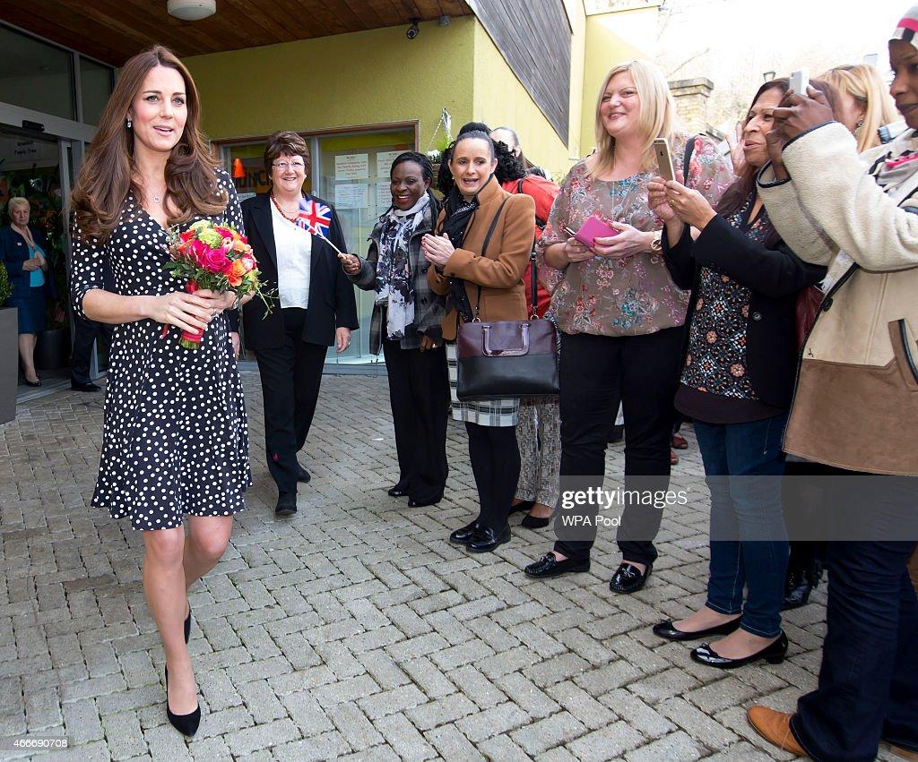 The Duchess Of Cambridge Visits Brookhill Children's Centre : News Photo