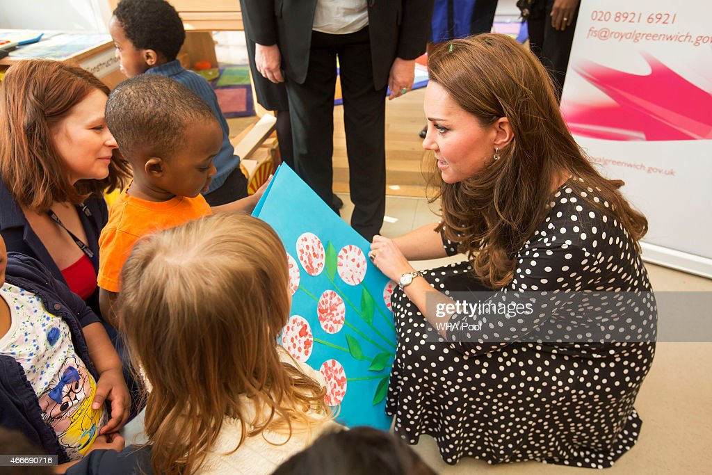 The Duchess Of Cambridge Visits Brookhill Children's Centre : News Photo