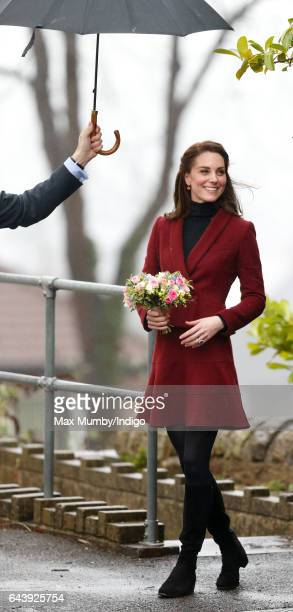 Catherine Duchess of Cambridge visits the Caerphilly Family Intervention Team to learn about their work with children with emotional and behavioural...