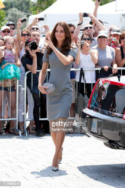 Catherine Duchess of Cambridge visits The Canadian War Museum on day 3 of the Royal Couple's North American Tour on July 2 2011 in Ottawa Canada