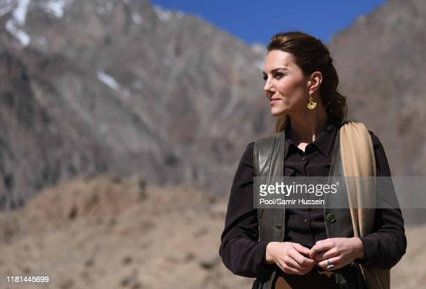 Catherine Duchess of Cambridge visits the Chiatibo glacier in the Hindu Kush mountain range on October 16 2019 in the Chitral District of...