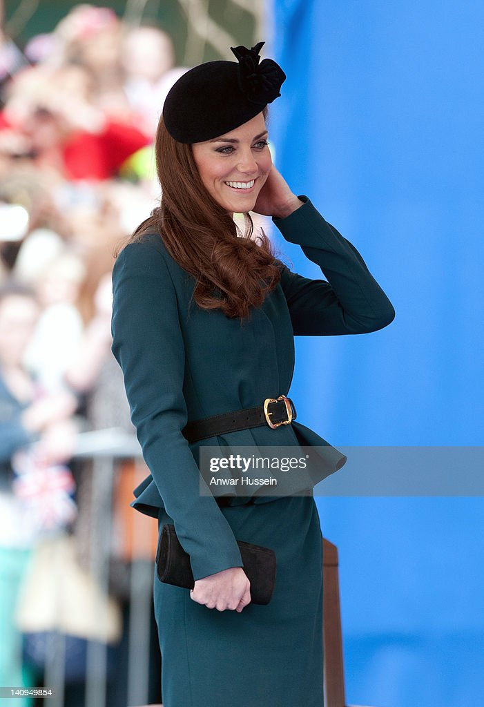 Queen Elizabeth ll, Prince Philip Duke Of Edinburgh And Catherine, Duchess of Cambridge Visit Leicester : News Photo