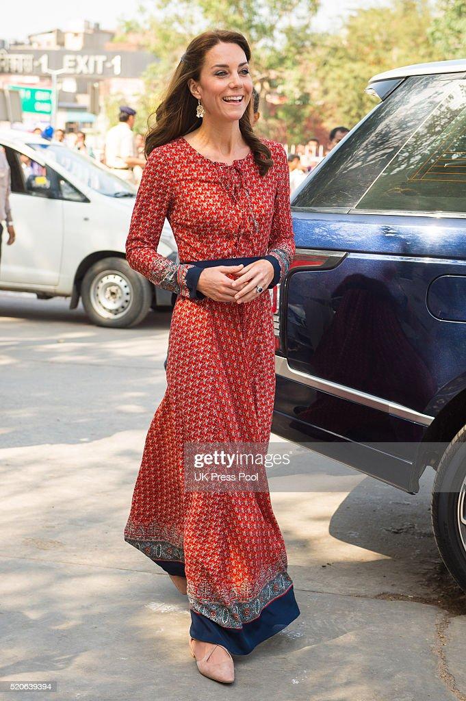 The Duke and Duchess Of Cambridge Visit India and Bhutan - Day 3 : News Photo