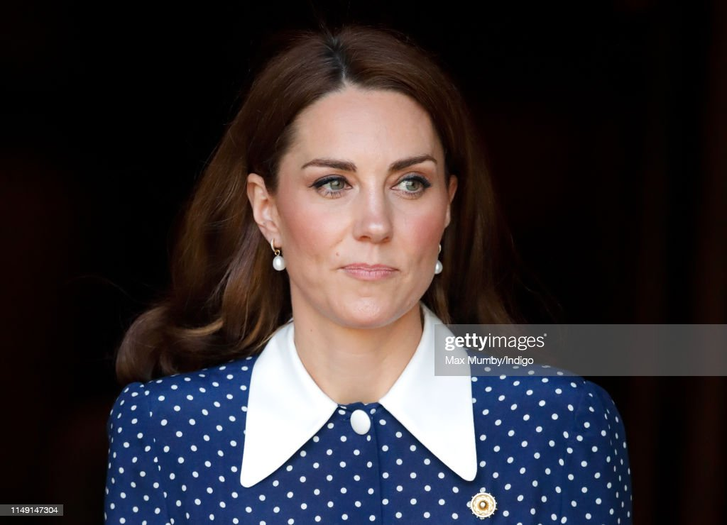 The Duchess Of Cambridge Visits Bletchley Park D-Day Exhibition : News Photo