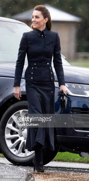 Catherine Duchess of Cambridge visits the Defence Medical Rehabilitation Centre Stanford Hall to meet patients and staff on February 11 2020 in...