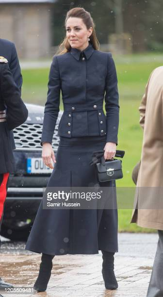 Catherine, Duchess of Cambridge visits the Defence Medical Rehabilitation Centre Stanford Hall on February 11, 2020 in Loughborough, United Kingdom.
