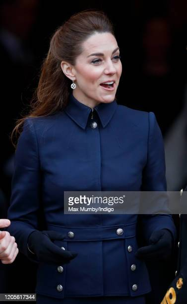 Catherine, Duchess of Cambridge visits the Defence Medical Rehabilitation Centre Stanford Hall on February 11, 2020 in Loughborough, United Kingdom....