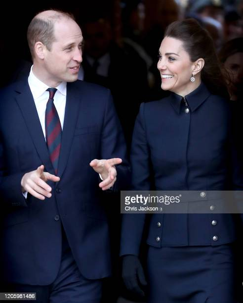 Catherine Duchess of Cambridge visits the Defence Medical Rehabilitation Centre Stanford Hall on February 11 2020 in Loughborough United Kingdom...