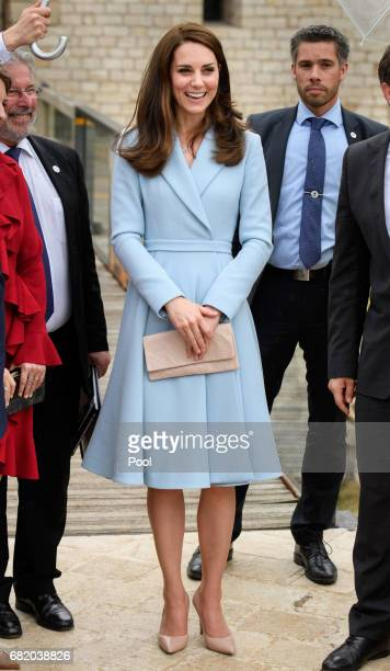 Catherine Duchess of Cambridge visits the Drai Eechelen Museum during a one day visit on May 11 2017 in Luxembourg The Duchess will attend a series...